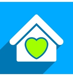 Hospice flat square icon with long shadow vector