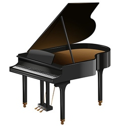 Grand piano with the top opened vector
