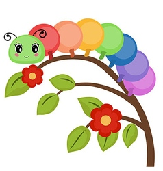 Funny colorful caterpillar vector
