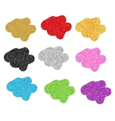 Glittering blobs isolated vector
