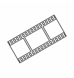 Film strip icon in outline style vector
