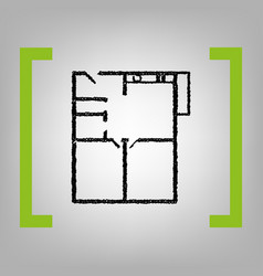 apartment house floor plans black vector image vector image