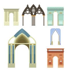 Arch architecture construction frame column vector