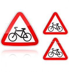 bike road sign vector image vector image