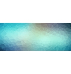 Blue abstract polygonal baner background vector