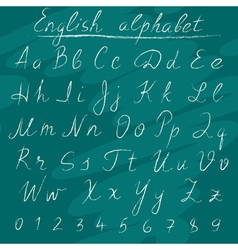 Chalk english alphabet vector image