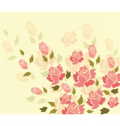 Colorful rose flowers background vector