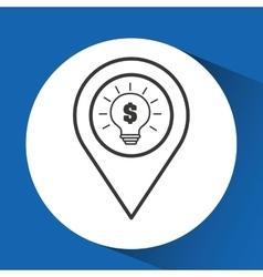 Concept e-commerce idea bulb graphic vector