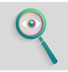 Eye space in magnifyer vector