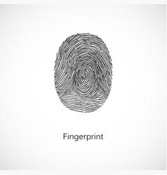 fingerprint isolated on white background vector image