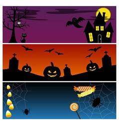 Halloween Banners Set vector image vector image