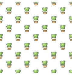 Heart cactus pattern seamless vector
