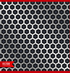 honeycomb pattern design in metallic style vector image