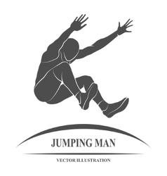 Jump Man long vector image vector image