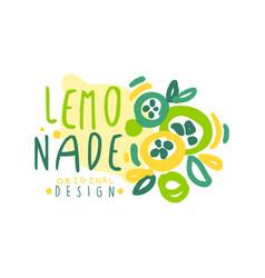 lemonade logo original design colorful hand drawn vector image