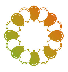 Lovely balloons circle trendy ideal for vector