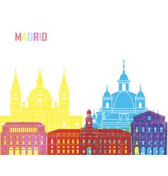 Madrid v2 skyline pop vector