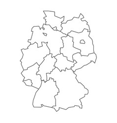 Map Of Germany Divided To Federal States Vector Image - Germany map drawing