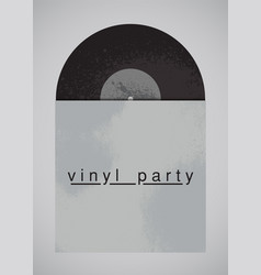 Music party typographical vintage grunge poster vector