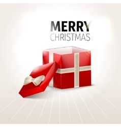Opened Xmas gift box Xmas background vector image vector image