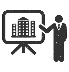 Realty presention icon rubber stamp vector