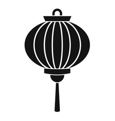 Red chinese lantern icon simple style vector