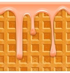 Seamless horizontal texture belgian waffles with vector