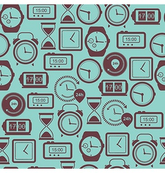 Seamless pattern with watches vector image