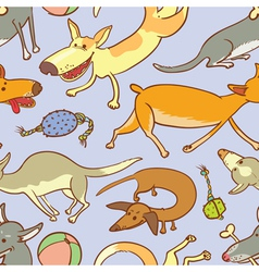 seamless with dogs vector image vector image