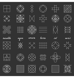 Set of geometric hipster shapes46 vector image