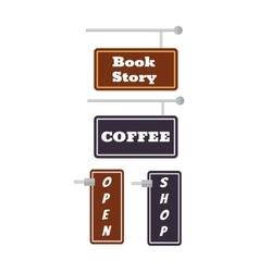 Shop signs set vector image vector image