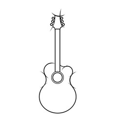 slylized of acoustic guitar vector image vector image