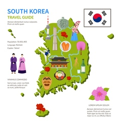 South korea travel guide infographic poster vector