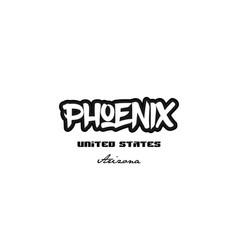United states phoenix arizona city graffitti font vector