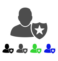User protection shield flat icon vector