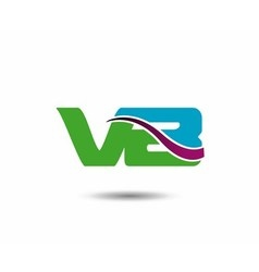 VB logo vector image vector image