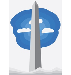 Washington monument vector