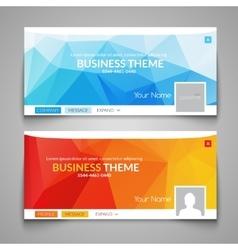 Web business site design header layout template vector