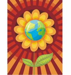 world flower vector image vector image