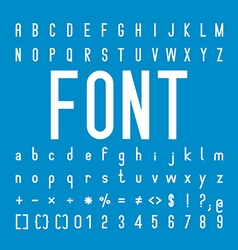 Font family and alphabet font design vector