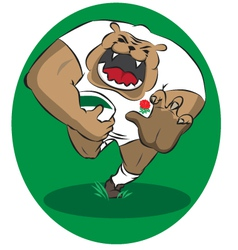 English rugby bulldog vector