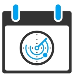Radar calendar day toolbar icon vector