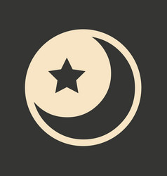 flat in black and white mobile application star vector image