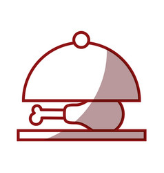 tray with chicken icon vector image