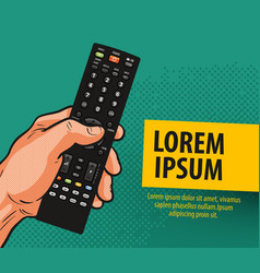 Tv television banner remote control comics vector