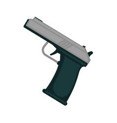 Simple metal handgun vector