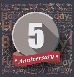 5 happy birthday background or card vector