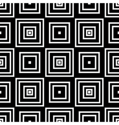 Seamless geometric pattern simple black and white vector