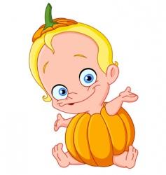 baby pumpkin vector image