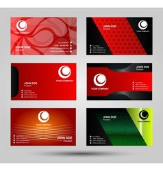 Elegant business card templates vector